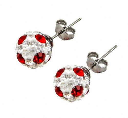 Tresor Paris 10mm Red Poke A Dot Large BonBon Stud Earrings